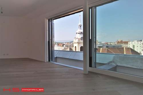 INNOVATIVES HIGHLIGHT BJ 2018, LUXUS auf 1 Wohnebene, 90m² WFL, 1.Terrasse uneinsehbar in PATIOFORM, 2.Terrasse mit direktem Badzugang, keine Schrägen, urbaner Fernblickblick, Garagenoption