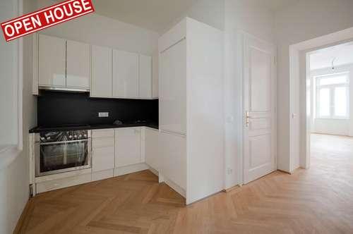 Erstbezug, Hoch-Exklusiv, Perfekt aufgeteilte 3-Zimmer Wohnung + Balkon (Hofseitig) , Schlüsselfertig