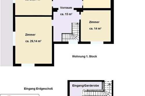 Viel Platz in einem Zweifamilienhaus nahe Wien Siebenhirten
