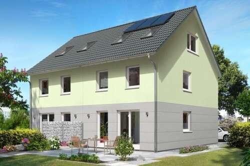 AUSBAUHAUS, Town & Country, Ziegel-Massiv, familienfreundliche, zentrale, sonnige Lage,das Doppelhaus Wien 130 in Bürmoos