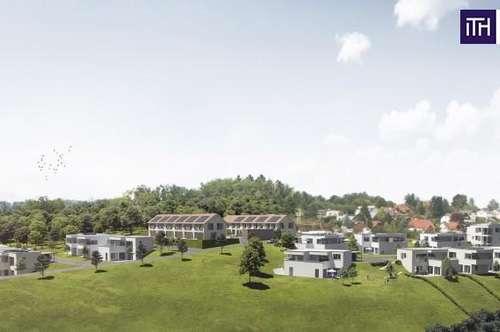 MAISONETTEN-Wohnung mit phänomenaler Terrasse, ATEMBERAUBENDEN Fernblick und GARTEN in 8075 Hart bei Graz!