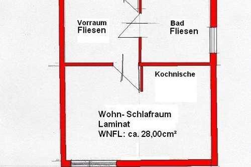 PROVISONSFREI: DG:1-Zimmer DG-Wohnung zu vermieten
