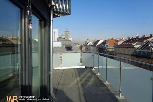 Exklusiver DG-Erstbezug beim Augarten! 3 Zimmer Maisonette mit Rundum Terrasse in gefragter Wohngegend !
