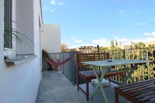 Terrassenwohnung mit 3 begehbaren Zimmern und Blick ins Grüne
