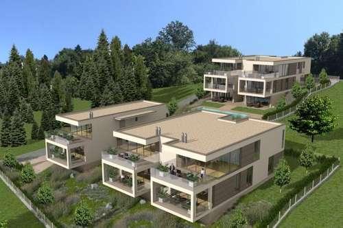 AUEN VILLEN am Wörthersee: Exklusive Chalets mit Wohneinheiten ab ca. 74 m² bis ca. 180 m² mit eigenem Seezugang - Bezug Sommer 2019!