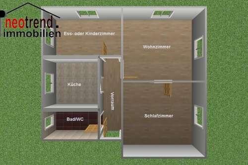 Neu renovierte Wohnung mit Gartenanteil und Parkplatz