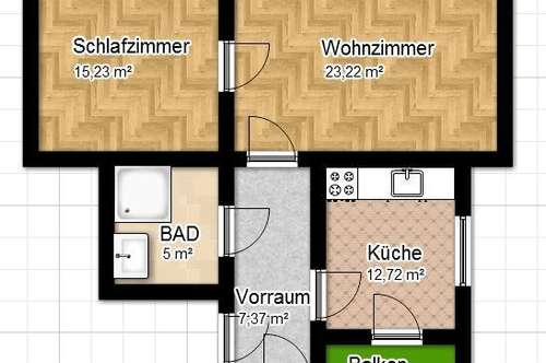 Pärchenhit! Perfekte 2 Zimmer Wohnung mit Balkon in der Nähe der TU!