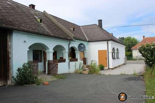 Altes Bauernhaus mit Halle, Nebengebäude und Baugrund