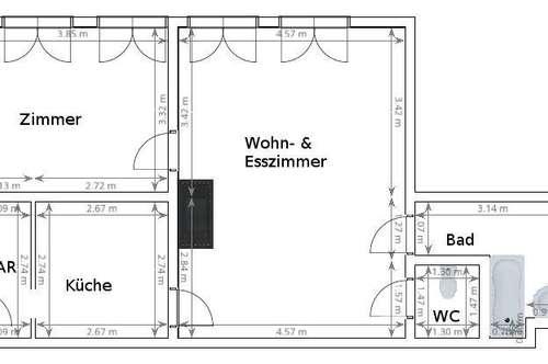 Erstbezug Wohnung in Grein mit 1 Schlafzimmer