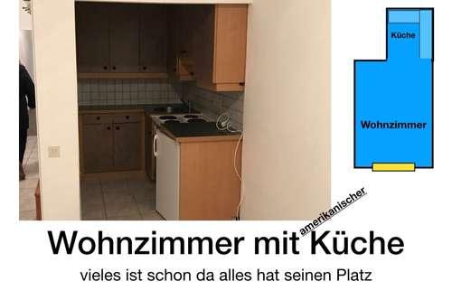 Sehr gut eingeteilte  Wohnzimmer - Küche -Schlafzimmer Wohnung