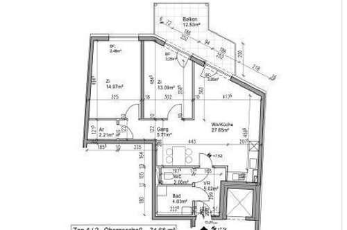 PROVISIONSFREI FÜR DEN MIETER! NEUBAU-ERSTBEZUG!!! Pärchenhit. perfekte 3 Zimmer Wohnung mit Terrasse in der Innenstadt!