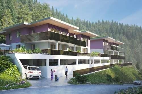 Vomp (Erstbezug): Moderne 2-Zi.-Wohnung mit Terrasse und 2 Tiefgaragenstellplätzen