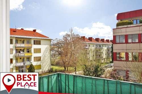 Innenstadtnahe Familienwohnung mit 3 Zimmern und Südbalkon