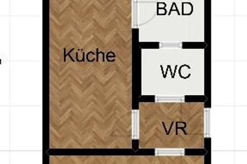 Neu sanierte 1 Zimmer Wohnung mit Balkon in der Josef Huber Gasse!