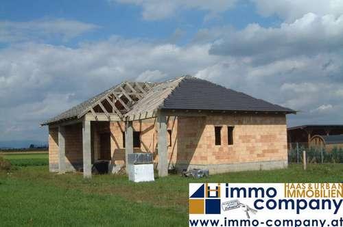 Einfamilienhaus-Rohbau im Bezirk Güssing dringend zu verkaufen! Fragen Sie nach den Grundrissplanen!