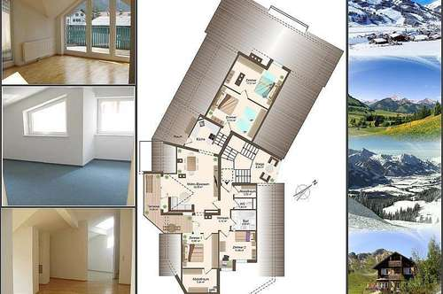 5-Zimmerwohnung mit Terrasse und Tiefgarage in ruhiger Ortsrandlage