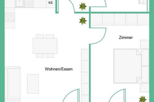 2-Zimmerwohnung im ULMENHOF zu vermieten
