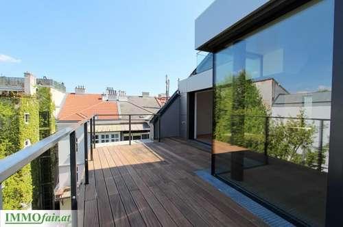 Außergewöhnliches Dachgeschoß in prächtigem Altbau (Top 18: 3-4 Zimmer/ ca. 132m² + ca. 31m² Terrasse u. ca. 10m² Balkon)