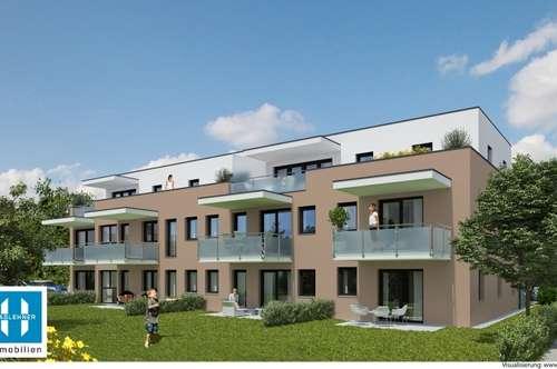 gut aufgeteilte 66,40m² Neubau-Eigentumswohnung mit Garten in Hartkirchen/Karling -PROJEKT WOHNTRAUM 2018