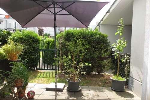 Entzückende Gartenwohnung in Urfahr, 67 m² + Terrasse + Eigengarten, 3 Zimmer, Küche möbliert, Tiefgaragenplatz!