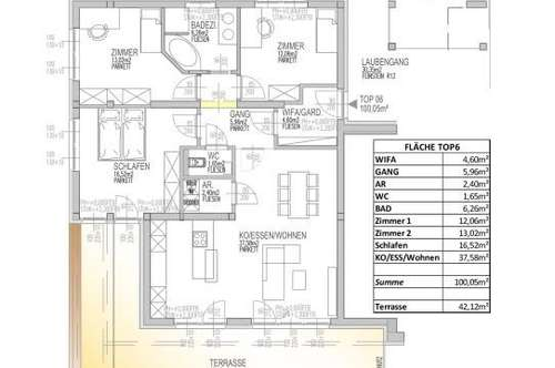 Exklusive 4 Zimmer Neubauwohnung mit ca. 42m² großer Süd-Terrasse/ Nähe Schwarzer Weg