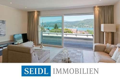 Modernes Designer-Penthouse mit Seeblick und Bademöglichkeit