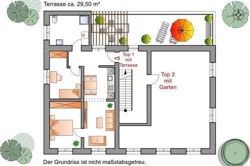 Kleine Wohnung - große Terrasse