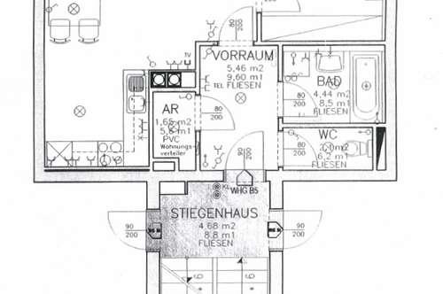 Zwei Zimmer - Wohnung mit ca. 52 m² in Traun + Balkon - Schulstraße