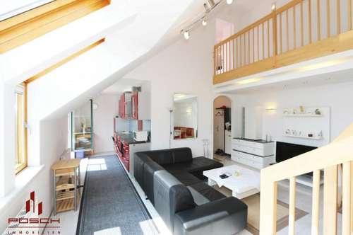 DG-Maisonette, sehr hell, im Neubau mit Terrasse, 2 Zimmer mit traumhaftem Wohn-Essbereich, inklusive Autoabstellplatz, Keller ca. 6,54 m²
