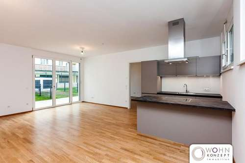 GARTENVILLA: 60m² Neubauwohnung + 15m² SÜDTERRASSE + KÜCHE - 1040 Wien