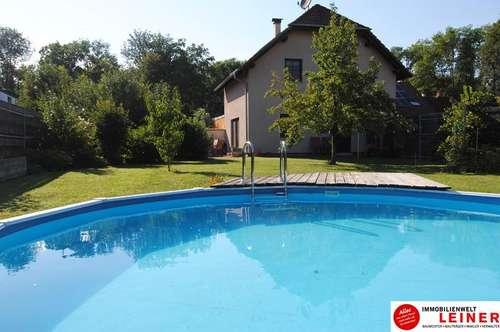 Margarethen am Moos - Nähe Wien: Charmantes Einfamilienhaus mit liebevoll gepflegtem Naturgarten und Pool!