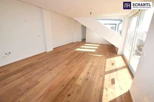 GRANDIOSE TERRASSE ON TOP!!! Drei-Zimmer-Erstbezug im Dachgeschoß, plus über 36m² Panorama-Dachterrasse!