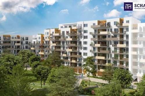 ITH: ANLEGER AUFGEPASST! RAUMWUNDER! Erstbezug + Balkon + Designerküche + Tiefgaragenplatz + Provisionsfrei für den Käufer!