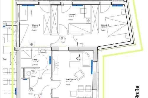 barrierefreie Traumwohnung, gefördert mit 3 Schlafzimmern und Terrasse - ab 01.12.