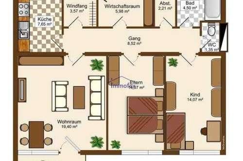 Geräumige 3,5 Zimmer Wohnung mit toller Aussicht