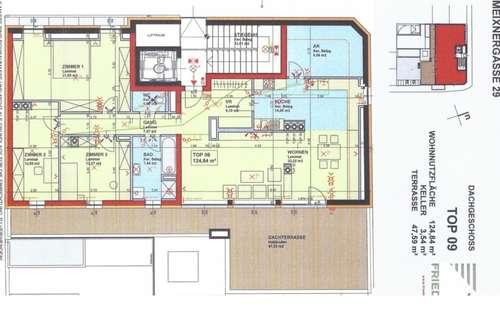 Dachgeschosswohnung mit Terrasse Miete 900€