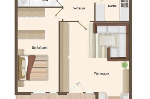 Schöne 2-Zimmer-Wohnung im Traunpark