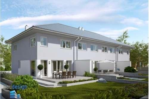 Neubau Erstbezug - modernes Eckreihenhaus in schöner Siedlungslage