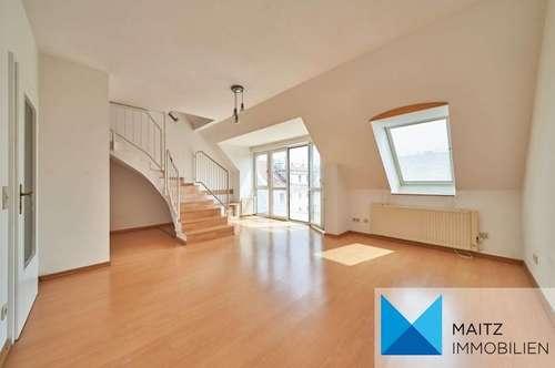 DG-Maisonette mit Balkon & Dachterrasse *Ruhelage und Ausblick*   nahe Rötzergasse **360-Grad-Tour**