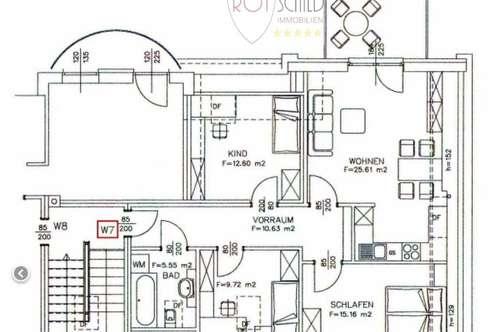 Familien-Traumwohung- Mitten am Kurpark !   4 Zimmerwohnung- ruhig, zentral, Terrasse, Carport,
