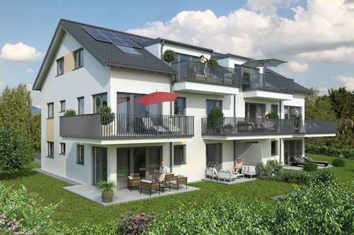 Feine 3-Zi.-Terrassenwohnung mit Panoramablick - NEUBAU IN ANTHERING!