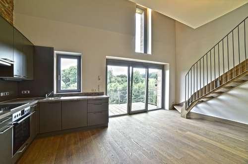 Traum-Loft-Wohnung, freischwebendes Wohnzimmer, 2 Schlafzimmer, über 40m2 Terrasse, PROVISIONSFREI, ERSTBEZUG – ARCHITEKTENWOHNUNG, Weiz