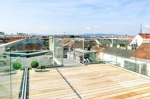 Highlight ganz oben mit Dachterrasse & Blick über Wien