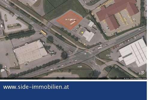 Gewerbeliegenschaft in Frequenzlage (asphaltierte Freifläche) am Südring zu mieten