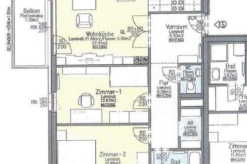 Geförderte 3-Zimmer-Wohnung mit Balkon