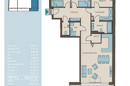 Traumhafte 4-Zimmer Wohnung mit Grünblick und Eigengarten!