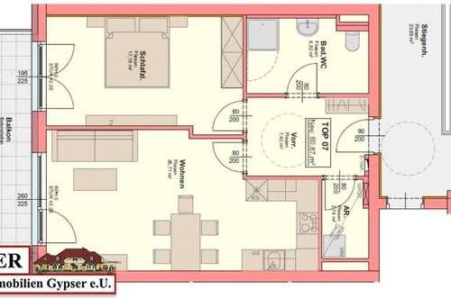Neue 2 - Zimmerwohnung mit großem Balkon zur Miete!