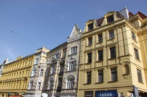 WÄHRINGER STRASSE! Aumannplatz-Nähe, unbefristete 83 m2 Altbau, 2 Zimmer, 2er-WG-geeignet, Kabinett, Wohnküche, Wannenbad, Parketten,