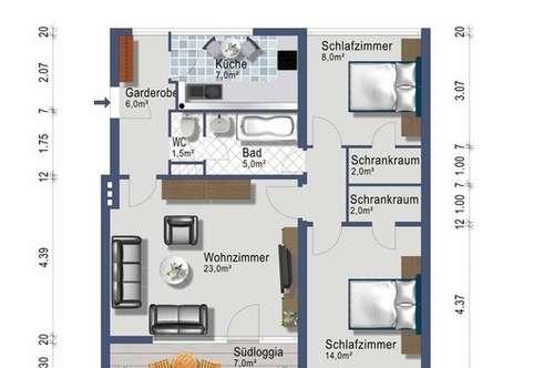3-Zimmer mit Südbalkon - provisionsfrei - ab 1. Juli 2018