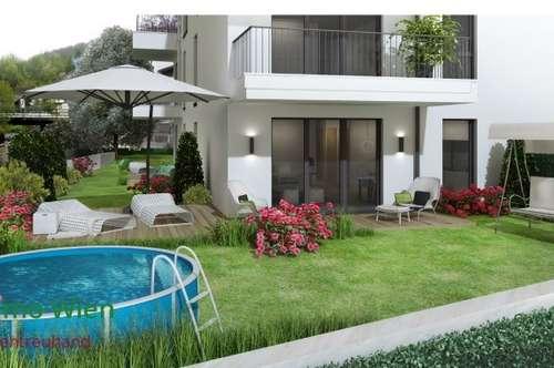 -! PROVISIONSFREI !- Neu errichtete 3 Zimmer Gartenwohnung mit Doppelparkplatz westlich von Wien
